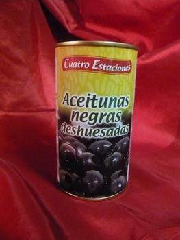 Zwarte ontpitte olijven   350g/150g
